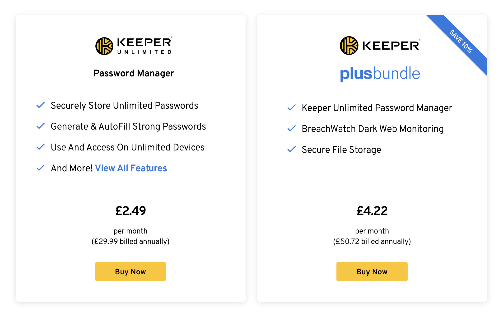 keeper prices
